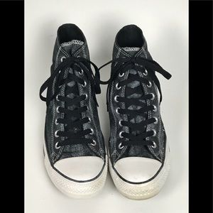 Women's Black Converse Hi Top Sneaker Sz 10